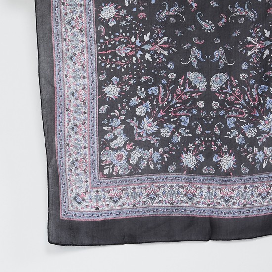 MAX Paisley Print Silk Scarf
