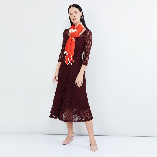 MAX Tie-Dye Sequinned Scarf