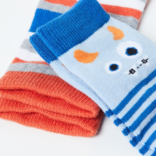 MAX Striped Socks- Pack of 2 Pairs