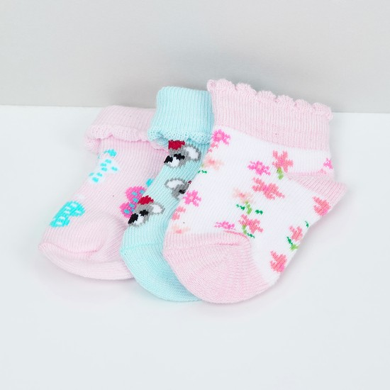 MAX Woven Design Socks- Pack of 3 - 1-2Y
