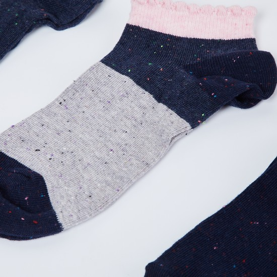 MAX Speckled Colourblock Socks - Pack of 3 Pcs.