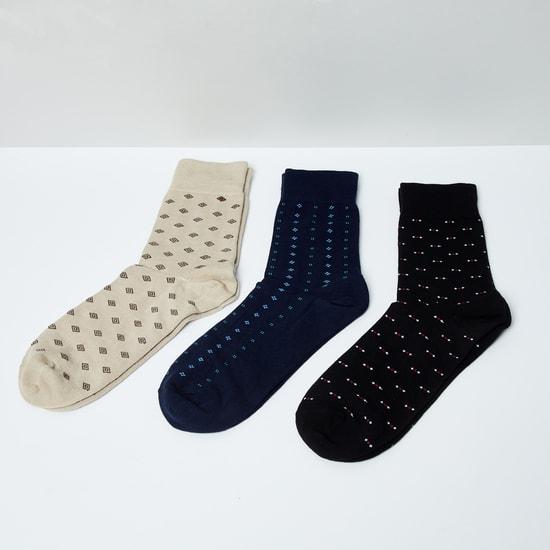 MAX Jacquard Patterned Socks - Set of 3