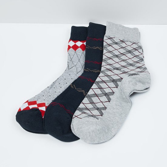 MAX Jacquard Elasticated Socks - Pack of 3