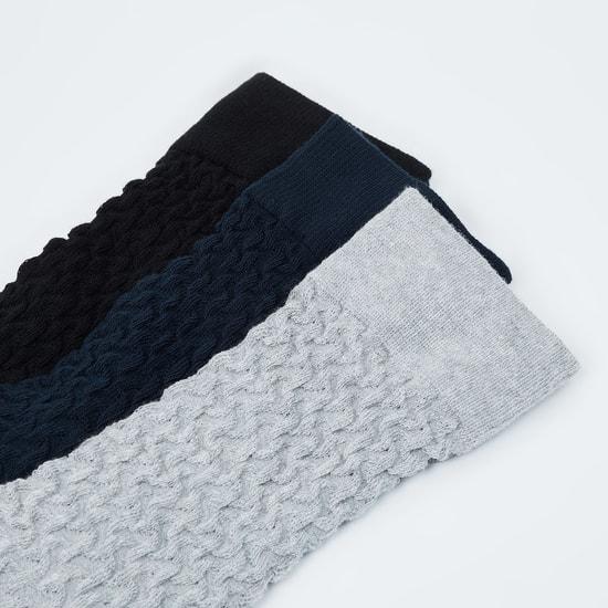 MAX Textured Elasticated Socks - Pack of 3