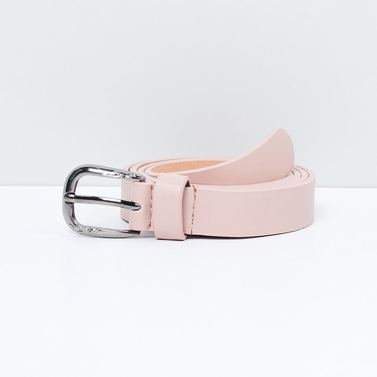 MAX Solid Casual Belt with Buckle Closure