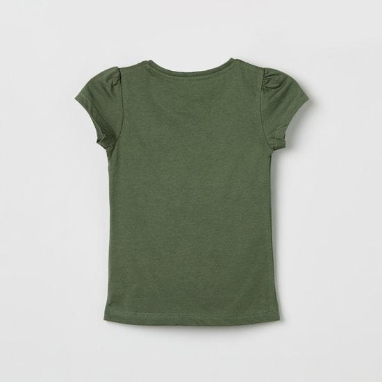 MAX Printed Short Sleeves Top