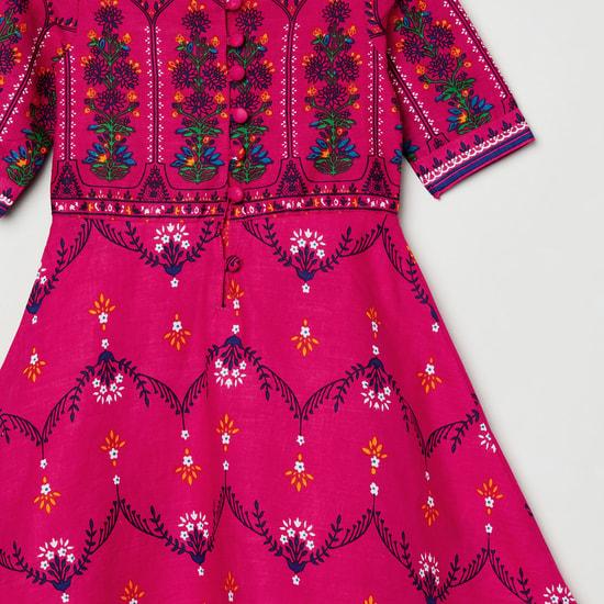 MAX Printed A-line Maxi Dress