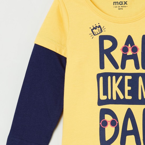 MAX Typographic Print Full Sleeves T-shirt