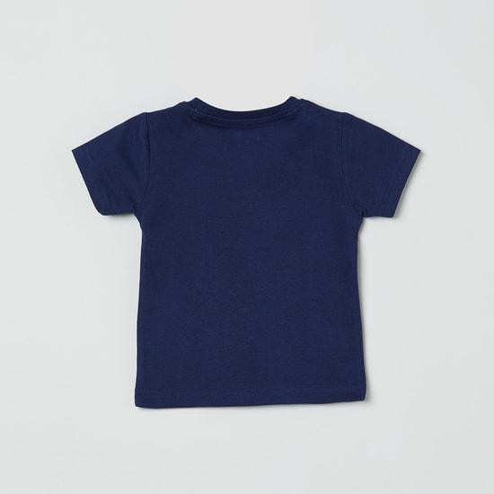 MAX Typographic Print Crew-Neck T-shirt
