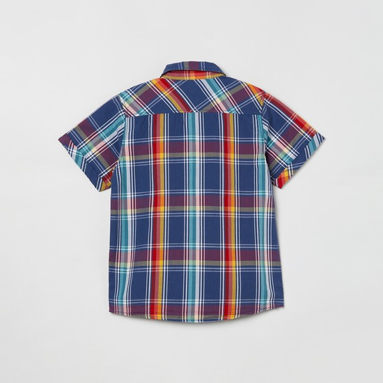 MAX Checked Short Sleeves Casual Shirt