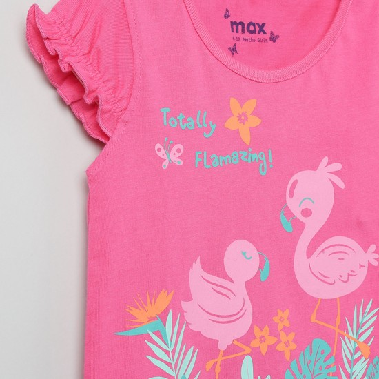 MAX Printed Round Neck Top