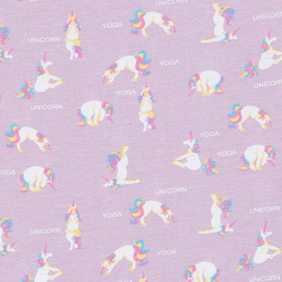 MAX Unicorn Print Round-Neck Top