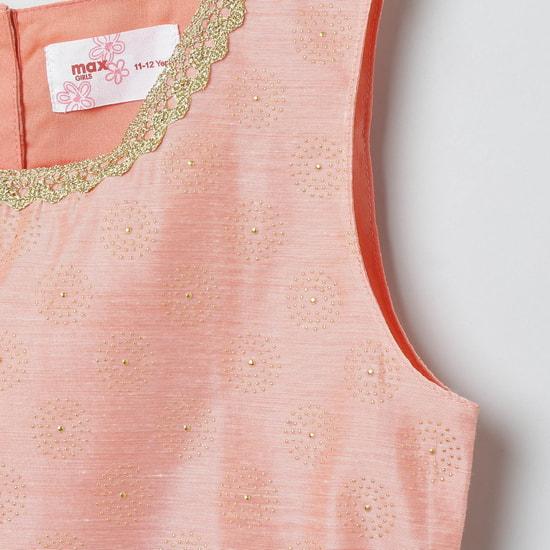 MAX Embellished Sleeveless Blouse with Lehenga and Dupatta
