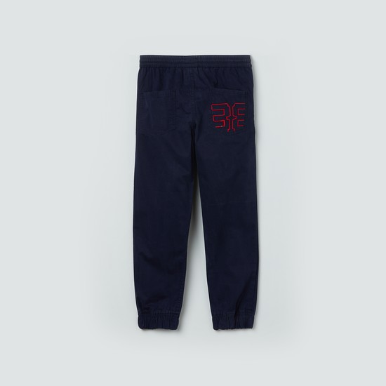 MAX Embroidered Joggers with Drawstring Waist