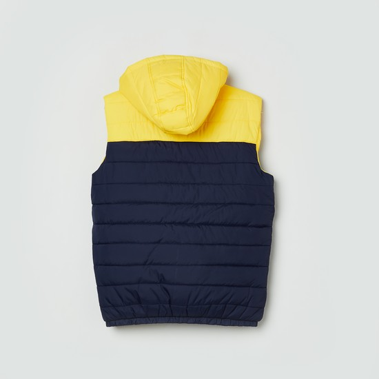 MAX Colourblock Hooded Gilet Jacket