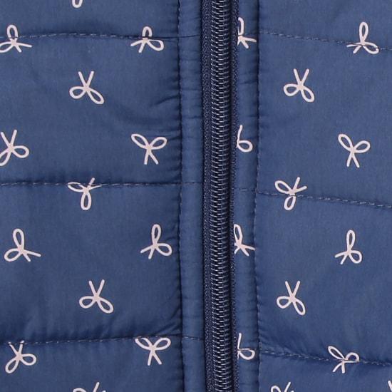 MAX Printed Hooded Longline Jacket