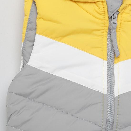 MAX Colourblock Hooded Gilet Jacket