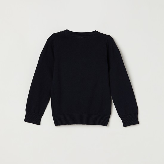 MAX Checked Crew Neck Sweater