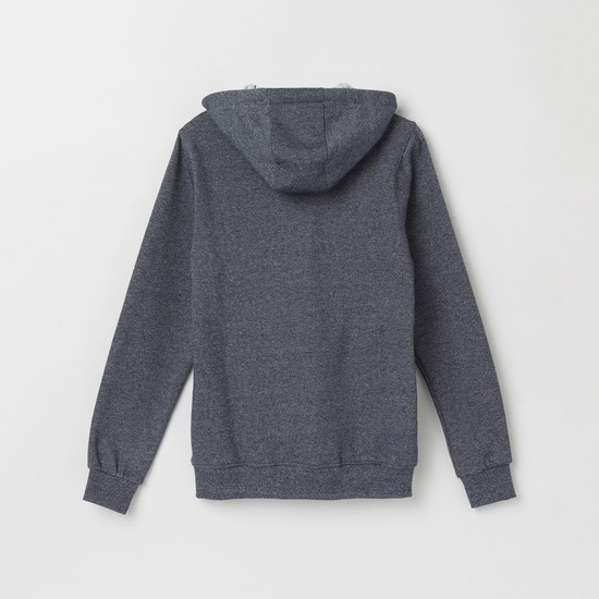 MAX Appliqued Hooded Sweatshirt with Zip-Closure