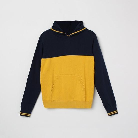 MAX Colourblock Hooded Sweater with Kangaroo Pockets