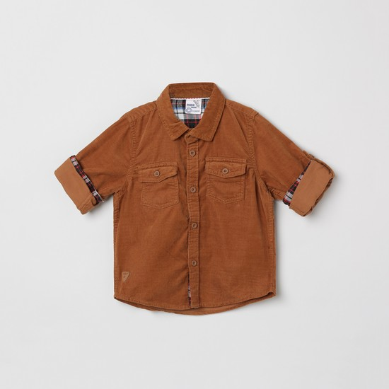 MAX Striped Roll-Up Sleeves Shirt