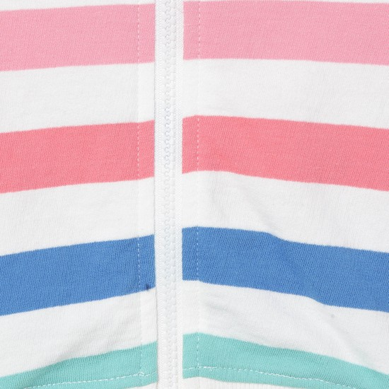 MAX Striped Zip-Closure Hooded Sweatshirt