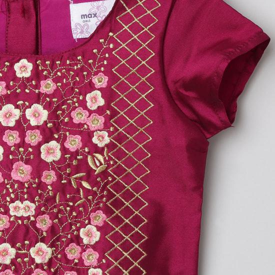MAX Floral Embroidery Lehenga with Choli and Dupatta