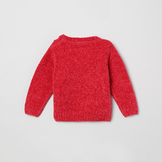 MAX Fuzzy Crew Neck Sweater