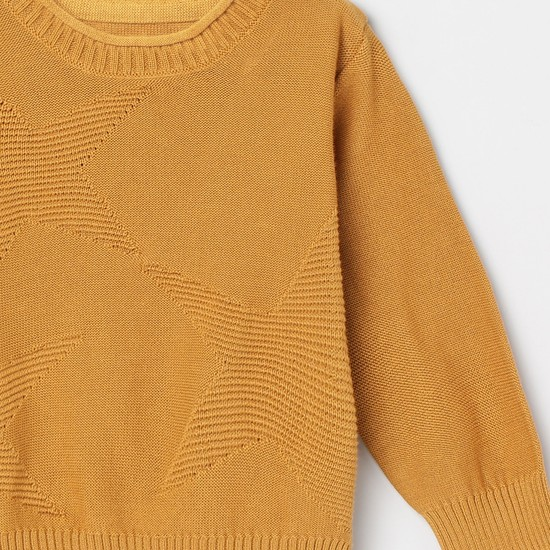MAX Star Patterned Crew Neck Sweater