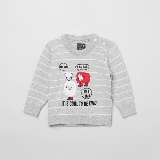 MAX Striped Crew Neck Sweatshirt