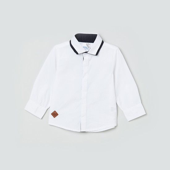 MAX Solid Cotton Casual Shirt