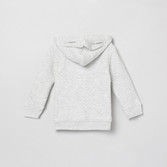 MAX Textured Button-Front Hoodie
