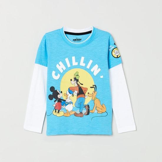 MAX Printed Layered Full Sleeves T-shirt
