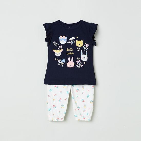 MAX Printed Lounge Top with Pyjama
