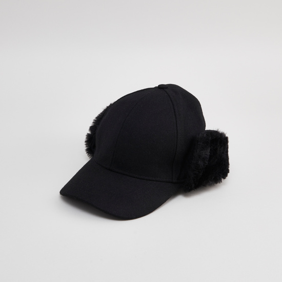 Textured Cap with Plush Detail