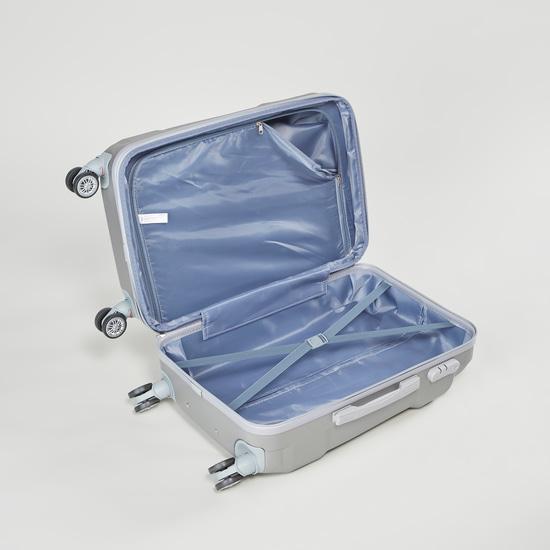 شنطة سفر صلبة بارزة الملمس بمقبض قابل للسحب - 41x26x59 سم