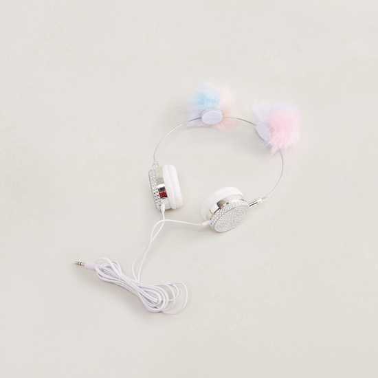 Headphones with Pom Poms