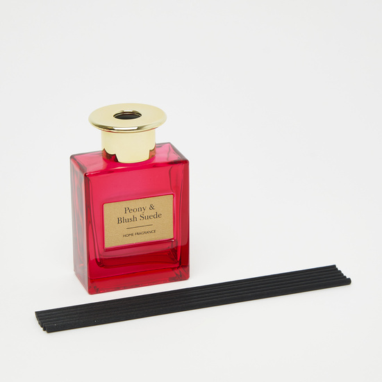 Peony and Blush Suede Reed Diffuser - 7x4x10 cms