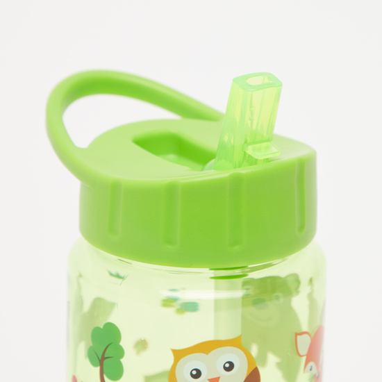 Printed Water Bottle with Flip Spout - 430 ml