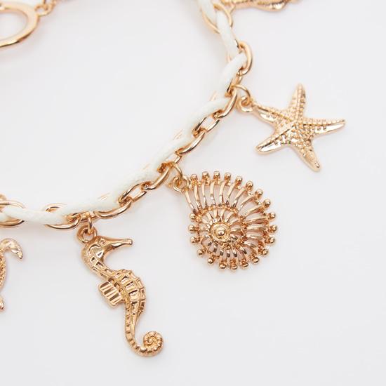 Charm Bracelet with Toggle Closure
