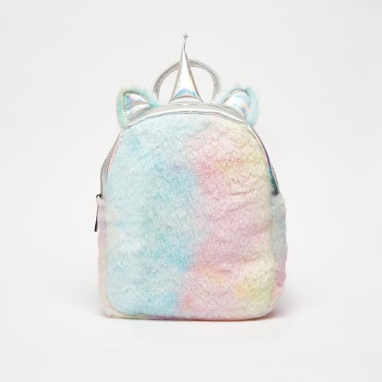 Fur Backpack with Shoulder Straps
