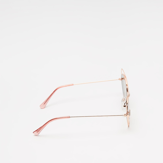 Metal Sunglasses with Stone Studded Accents