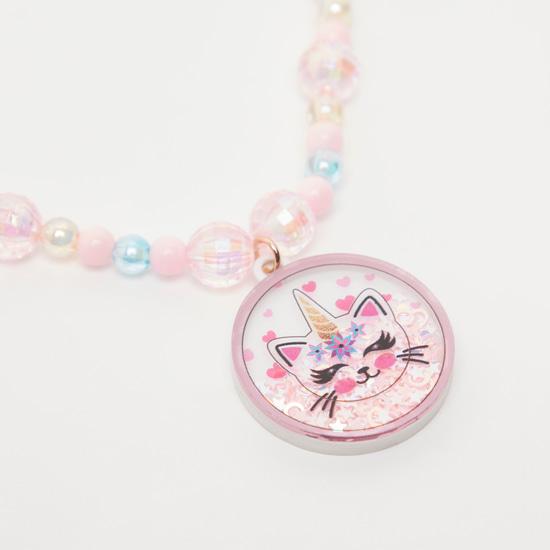 Unicorn Pendant Necklace and Bracelet Set