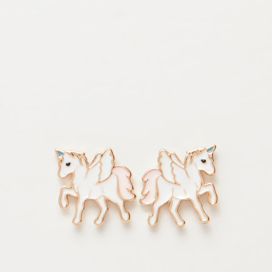 Unicorn Long Necklace and Stud Earrings Set