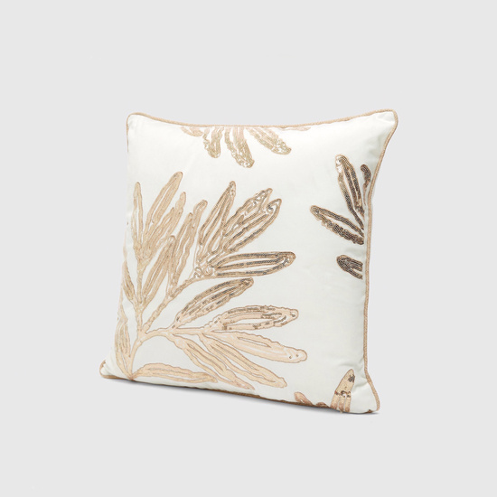 Sequinned Filled Cushion - 45x45 cms