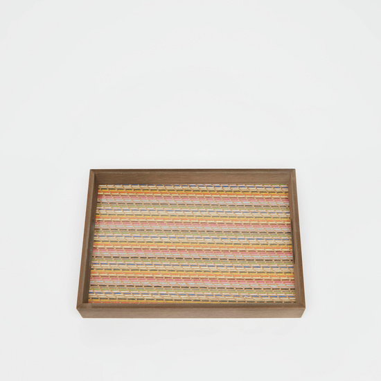 Printed Rectangular Serving Tray with Handles