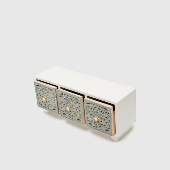 صندوق مجوهرات سطح طاولة مزيّن - 33.5x11.5x14 سم