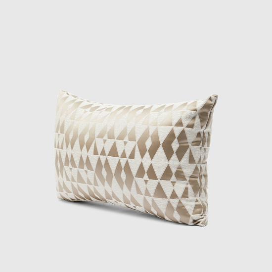 Filled Jacquard Cushion with Zip Closure – 50x30 cms
