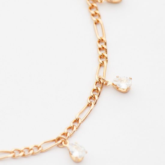 Studded Anklet with Lobster Clasp Closure