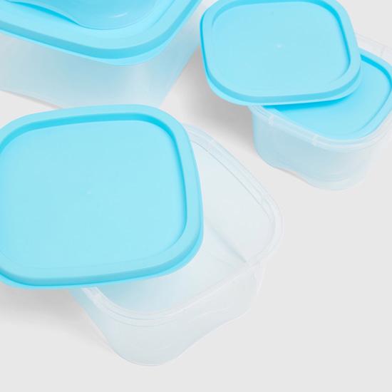 طقم حاويات تخزين بغطاء لون مغاير - 5 قطع